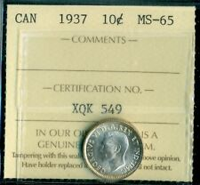 1937 Canada King George VI Ten Cent ICCS MS-65