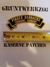 Pinder Barracks, Zirndorf Germany rocker tab embroidered patch