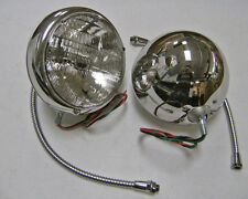 Baby Deuce Hot Rod 6 volt Stainless Headlights Pair 6v