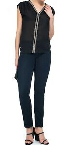NYDJ Not Your Daughters Larchmont Dark Wash Skinny Petite Jeans UK 10 EU 38 US 6