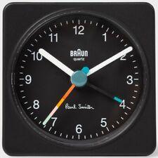 PAUL SMITH + BRAUN Black Travel Analogue Alarm Clock NEW