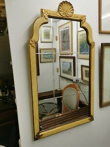 Vintage Art Deco Style Mirror, decorative shell decoration