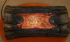 Vintage Electric Crackling Sound and Glowing Fireplace Logs Electric Plug-in