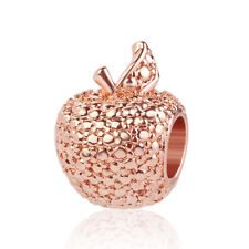 1pcs apple rose gold European Charm Beads Fit 925 Necklace Bracelet Chain DIY
