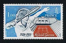 France 1612 MNH - Sports, Tennis, Roland Garros