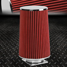 "UNIVERSAL 3""ID WASHABLE 10.25"" LONG CONE AIR INTAKE FILTER+MAF SENOR ADAPTER"