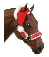 Santa Hat & Overlay Set for Horse - halter not included parades Christmas photo