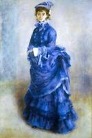 Pierre Auguste Renoir The Blue Lady Fine Art Poster 24x36 inch