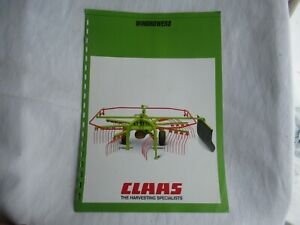1986 CLAAS WS 320 310 280 windrowers brochure