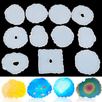 Agate Coaster Resin Casting Mold Silicone Jewelry Making Epoxy Mould Craft Hot ~