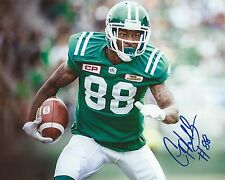 Caleb Holley Signed 8x10 Photo Saskatchewan Roughriders Autographed COA