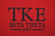 T-SHIRT S SMALL TKE TAU KAPPA EPSILON UNIVERSITY OF MISSOURI FRATERNITY 2007