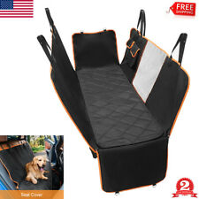 Pet Car Seat Cover for Dogs Back Hammock Protector Mat Truck Suv w/ Mesh Window