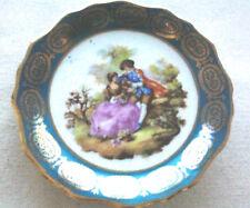 Vintage Porcelain Limoges France 22k Gold Romantic Fragonard - decorative plate