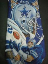 Dallas Cowboys NFL Tie VTG Ralph Marlin Blue Stars Football Necktie 90s Ya Lee