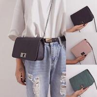 Cute Women Fashion Shoulder Bag Buckle Textured Casual Chain Fashion Mini Bag
