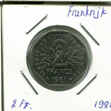 2 FRANCS 1981 FRANCIA - FRANCE Semeuse French Coin #AM356EW
