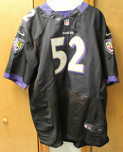 NIKE RAY LEWIS 52 NFL FOOTBALL REPLICA JERSEY BALTIMORE RAVENS SZ 56 ON FIELD