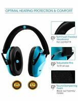 Foldable Ear Muffs Hearing Noise Reduction Protection Gun Shooting Range Blue