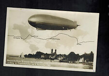 1929 Boblingen Germany Graf Zeppelin aRPPC Postcard Cover to Stuttgart LZ 127