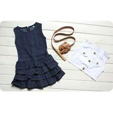 2Pcs Baby Kids Girls Sleeveless Vest Tops + Skirt Tutu Dress Casual Clothes Set