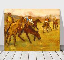 "EDGAR DEGAS - Before The Horse Race - CANVAS ART PRINT POSTER - 24x18"""