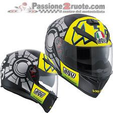 Casco integrale moto Agv K3 Sv Valentino Rossi 46 Winter Test taglia S