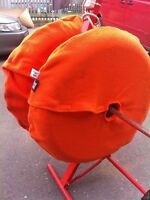 Medium Orange Tyre Blankets Fleece Covers Tyre Warmers blankets