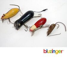 HEDDON SHAKESPEARE PAW PAW unid (4) Old Mouse Fishing Lures