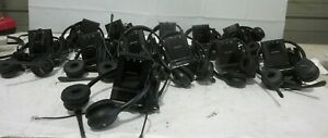 (Lot of 12) Plantronics WO2 over the head headsets/ and CO52 Bases and AC