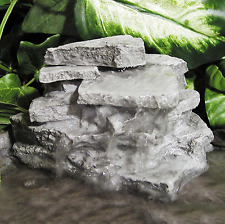 Birds Choice 5-in Resin Layered Rock Water Flow Realistic Waterfall Fountain New