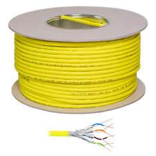 100m CAT.7 Cat7 Kupfer Verlegekabel Netzwerkkabel gelb Gigabit 10Gbit 1000Mhz