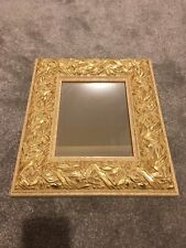 Stunning Gold Wooden Venetian Style 3D EDGE WALL HANGING MIRROR