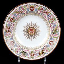 10 Antique Sevres Style St. Cloud Soup Plates