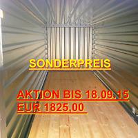 LAGERCONTAINER 6 Meter Baucontainer Gartenschuppen Gerätehaus Geräteschuppen