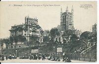 CPA -76- FECAMP - la caisse d'Epargne et L'Eglise Saint-Etienne
