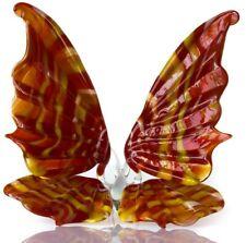 Butterfly Red Yellow Blown Glass Art Home Decor Animal Sculpture