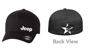 SKULL JEEP FLEXFIT HAT CURVED or FLAT BILL *FREE SHIPPING in BOX*