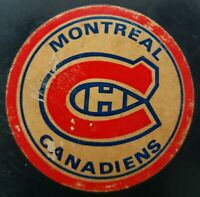 STICKER GEL LIKE LOGO RARE NHL HABS VINTAGE MADE IN CZECHOSLOVAKIA HOCKEY PUCK