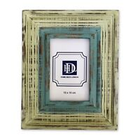Green and blue washed mango wood photo frame 10x15cm/4x6in