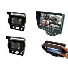 """Parksafe PS025C102 AUTO FURGONE 7"""" QUAD input di parcheggio retromarcia monitor 2 telecamera CCD"""