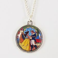 SMALL BEAUTY AND THE BEAST NECKLACE disney princess belle kids party favour
