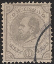 CURACAO :1889 30c pearl-grey  perf 12 1/2 x 12 SG 24 used