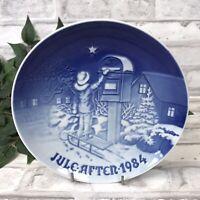 Vintage 1984 Plate Juleafton Jul Christmas Letter Denmark B & G Bing & Grondahl