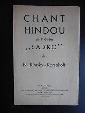 """Partition """"Chant hindou de l'opéra Sadko"""""""