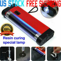 UV Cure Lamp Ultraviolet LED Light Auto Car Glass Windshield Crack Repair Tool