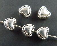 50pcs Tibetan Silver Nice Heart Spacer Beads 5.5x6x4mm 61