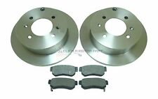 KIA MAGENTIS 2.0 16V 2. 5V6 2001-2005 REAR 2 BRAKE DISCS AND PADS SET NEW