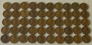 1944  #1 Roll Vintage Wheat Pennies, pennies fine or better,