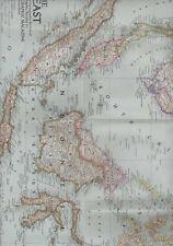 1952 GRANDE MAPPA CINA COREA Indonesia Mongolia Giappone 102 x 71 cm W2.129